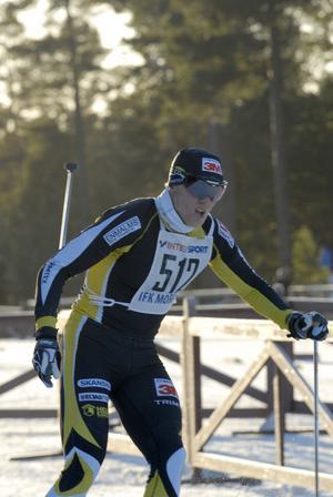 Jens Eriksson var snabbast av herreliten, sju sekunder före vasaloppsvinnaren Jörgen Brink.