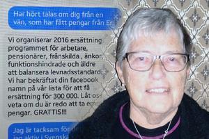 Johnna Christensen från Stugun vill varna för facebookbedragaren.