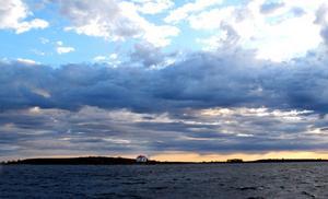 Vackra Singelskär, tidig morgon uti Ålands hav.