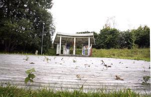 Så här såg det ut 2009 när scenen med dansbana fortfarande fanns kvar.