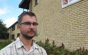 Lukas Pawelec från Lublin i  Polen är ny utbytesstudent på Högskolan Dalarna.  Foto: Camilla Sellergren