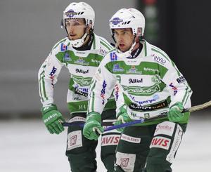 Simon Jansson (tre mål i elitserien denna säsong)  och Jonas Nilsson (fem mål i elitserien denna säsong).
