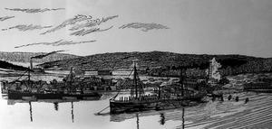 Gunnar Erkner har gjort träsnitten som illustrerar Birger Normans Ön.