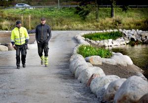 Jonas Rasmusson och Gustav Eriksson är mycket nöjda med anläggningen.