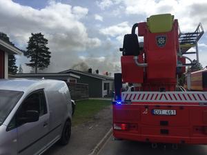 En brand startade i Sveg under onsdagseftermiddagen.