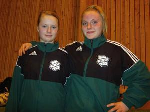 Kusinerna Josefin och Pernilla Arvidsson var bästa spelare i finalen mot Frösön. K/D vann med 6–1 efter två mål var av Arvidsson.Foto: Hans Andersson