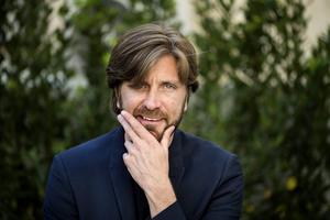 Ruben Östlund i Cannes.   Foto: Pontus Lundahl/TT