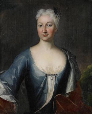 Catharina Cederström basade över Högbo bruk i 37 år på 1700-talet. Oljemålning av Johan David Swartz.