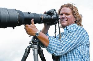 Naturfotograf. Anders Geidemark berättar om sitt arbete med kameran på fältet.