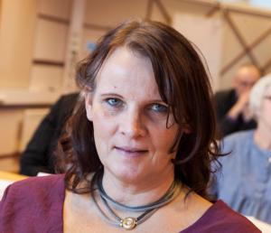 Marie Eriksson, aktiv i sjukhusfrågan i Sollefteå.