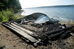 Vindskyddet i Minnesgärde är totalförstört.