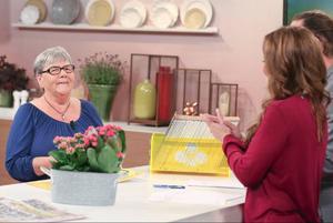 Doris Arvidsson vann 100 000 kronor på triss. Vinsten skrapade hon fram i TV4:s studio.