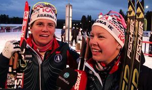 Ida Ingemarsdotter och Emma Wikén tog SM-guld i teamsprint.