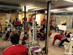 Selånger har ordnat ett eget gym i Bergsåker.