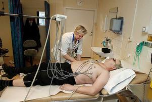 En av de undersökningar som utförs på avdelningen för klinisk fysiologi på Centrallasarettet.