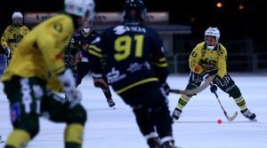 Misha Svechnikov var ett ständigt orosmoment för Falun i fredagens seriefinal på Ljusdals IP.