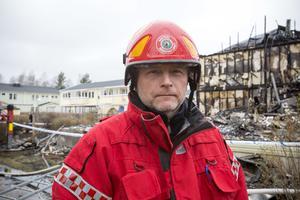 Räddningsledare Magnus Östlund, Gästrike Räddningstjänst.