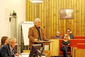 Tackade opposition. Det goda resultatet från 2014 är ett resultat av långvarigt arbete, och det ville kommunstyrelsens ordförande Bo Rudolfsson (KD) tacka för. Foto: Katarina Hanslep