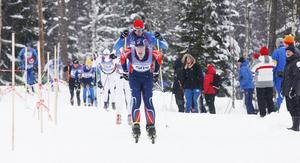 Tom Ankerstål i aktion under årets Harsa Ski Marathon, där han slutade fin trea.