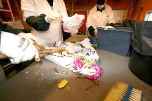 Över sju ton sopor plockades ut ur Krokombornas hushållssopor.