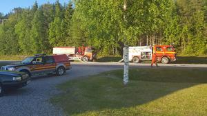 Räddningstjänsten lyckades förhindra att branden spred sig,