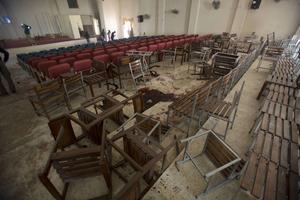 Army Public School i Peshawar dagen efter blodbadet.
