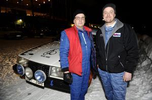Fredrik L'Estrade (till höger) och Rolf Pakka var belåtna med sina insatser under lördagen.