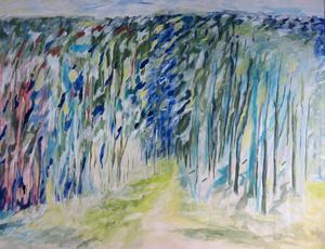Annika Hedermo arbetar med olja i stort format och det är naturen i hennes närhet som är motiv och inspirationskälla till hennes konst.
