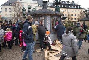 Avteckning av tomtestugorna i Vängåvan.