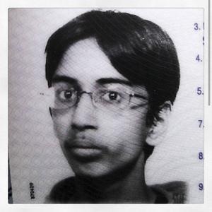 Passbilden på Tanvir Mansur, 13 år.