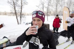 Jessica Eriksson på läkemedelsenheten hade 20 mil i benen. Senare i år blir det både Öppet spår och Stafettvasan.