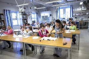 Elever från andra klass på Stöde skola fick möjligheten att lära sig mer om kemi på Mittuniversitetet.