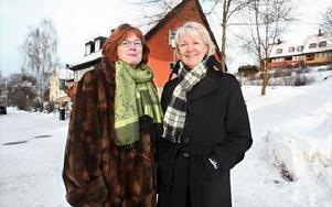 -- Politik är tufft men väldigt roligt också, säger Ann-Britt Åsebol, moderat, och Ingalill Persson, socialdemokrat, som är beredda att ta ett kliv uppåt i politiken till riksdagen respektive landstingets tyngsta politiska uppdrag. FOTO: BONS NISSE AN