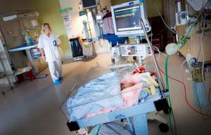 På Östersunds sjukhus neonatalavdelning invigde man nyligen nya lokaler som bland annat ska underlätta personalens arbete gentemot barnens föräldrar. På bilden är sjuksköterskestudenten Anna Levholt i arbete. Foto: Henrik Flygare