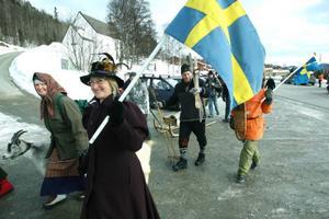 Efter en parad genom byn samlades man i Fjällmuseet för att fira 10-årsdagen. Foto: Håkan Persson