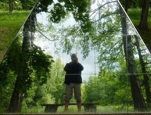 Narcissismett av konstverken i Engelsbergs Konstpark. Väl värt ett besök.