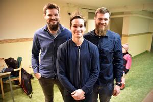 De tre som lade grunden för föreningen för ett år sedan: Björn Tegnér, Marcus Hedlund och Thomas Kjellson.