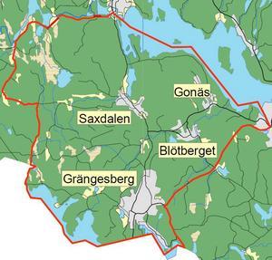 Här är området i Ludvika kommun där vargjakt tillåts i början av nästa år.
