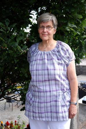 Annelie Lindström minns förödelsen från tromben i Avesta 1993.
