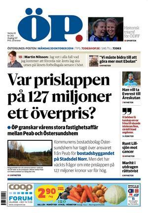 ÖP, måndag 20 oktober 2014.