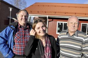 Några av eldsjälarna i Böle: Sven Nilsson, Eva-Märet Nordenberg och Janne Johansson.