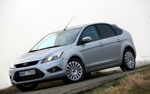Ford Focus blir först ut i Ford-familjen med dubbelkoppling. Men koncernsyskonet Volvo C30 har redan den nya växellådan.Foto: Rolf Gildenlöw