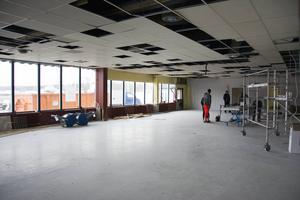 Just nu pågår renoveringsarbetet för fullt.