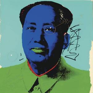 Till salu. Dennis Hoppers Andy Warhol-porträtt av Mao.