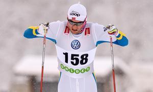 Petter Northug kan straffas om han kör i blågula tävlingsdräkten. Foto: Ulf Palm / TT