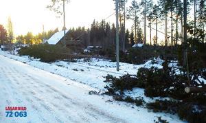 Detta är i Räcksjön utanför Orrviken.