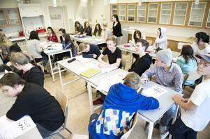 På den en timme långa lektion fanns det knappt tid till att genomföra alla laborationer, än mindre för att diskutera resultatet.