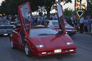 Mikael Sjökvist körde med korsdrag i sin Lamborghini-replika.