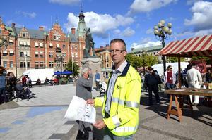 Stefan Näslund, projektledare, är klar med planen hur det nya torget ska utformas.