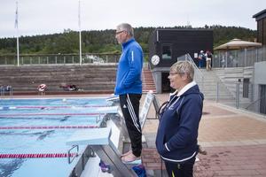 Tränarna Thomas Johansson och Kerstin Norberg.